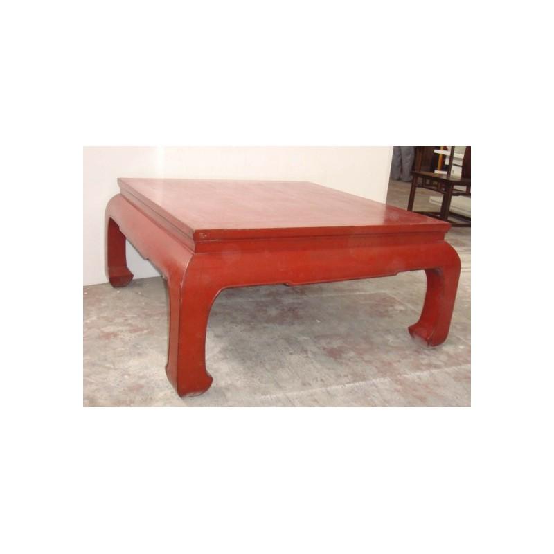 table basse de couleur rouge chine. Black Bedroom Furniture Sets. Home Design Ideas