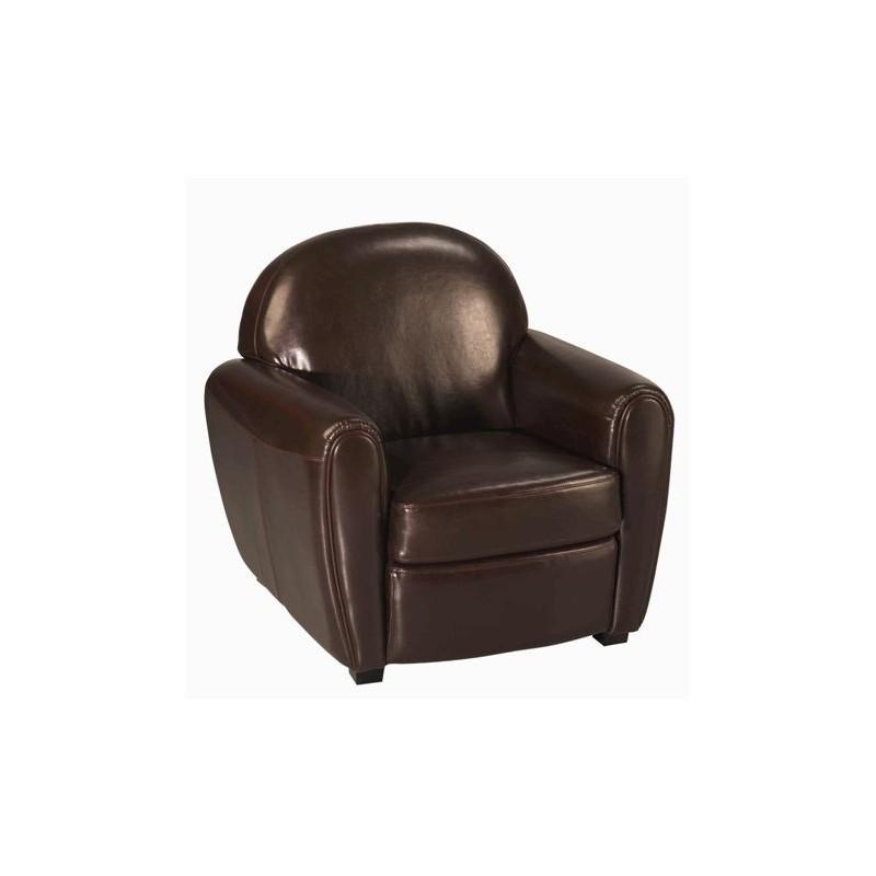 location fauteuil club en cuir marron chocolat 126 events. Black Bedroom Furniture Sets. Home Design Ideas