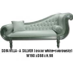 Location M'éridienne meuble Villa bois argenté' et simili blanc