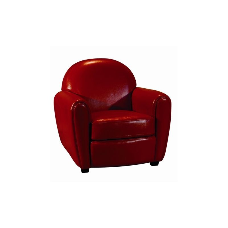 fauteuil club en cuir rouge pour vos salons. Black Bedroom Furniture Sets. Home Design Ideas