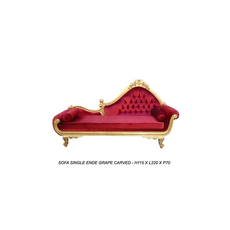 location de m ridienne baroque rouge. Black Bedroom Furniture Sets. Home Design Ideas