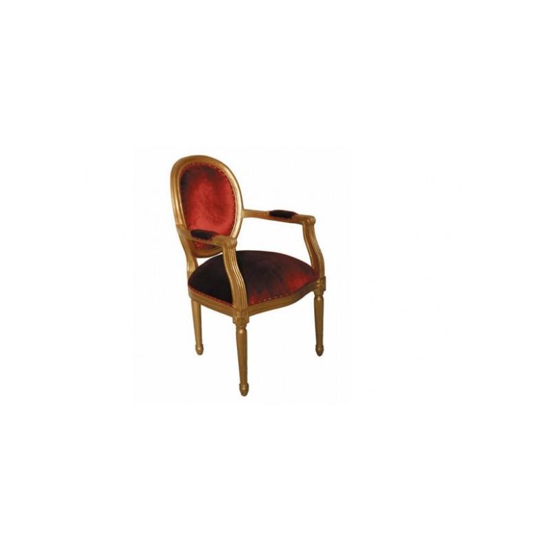 Location fauteuil cabriolet style louis xv d co priv - Fauteuil cabriolet rouge ...
