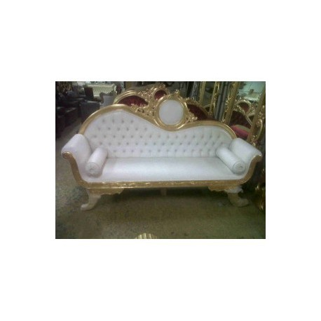 Location Sofa dor' et blanc Victoria 3 places