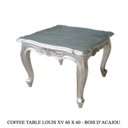Location de Table Basse En Bois Argente 60 Cm