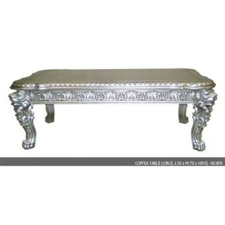 Location Table basse en bois argent'e modŠle Lion