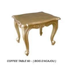 Table Basse En Bois Dore 60 Cm