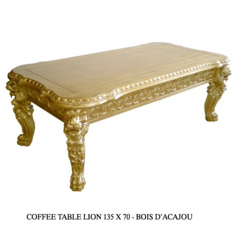 Location table basse dor' modŠle Lion