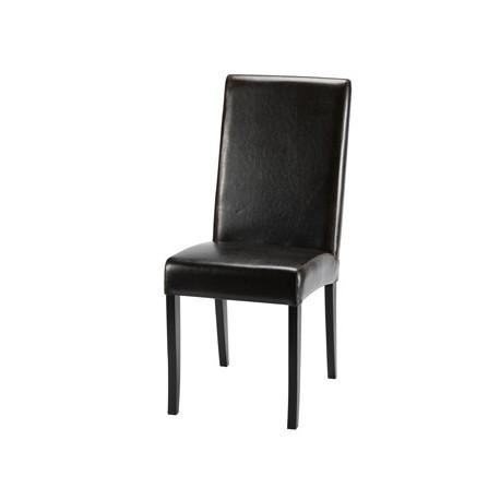 location de chaise en cuir marron. Black Bedroom Furniture Sets. Home Design Ideas