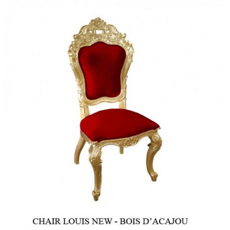 Location de Chaise De Salle A Manger Carved Louise Bois Dore et