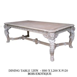 Table Lion Cerusee
