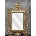Miroir Beauty Bois Dore