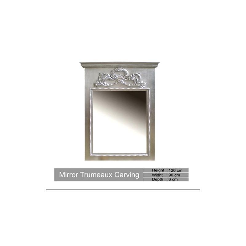 Miroir magique en argent for Miroir trumeau bois