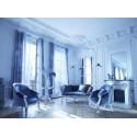Location de Canape De Style En Velours Gris Et Bois Argente