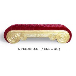 location banquette en velours rouge - Apolo Stool