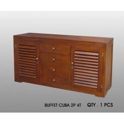 Buffet Cuba 2 P - 4 T Acajou