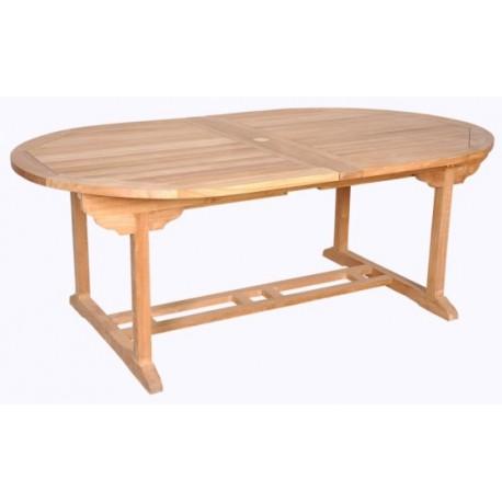 Location table de jardin ovale en teck massif 120 cm 12 personnes - Table jardin teck massif fort de france ...