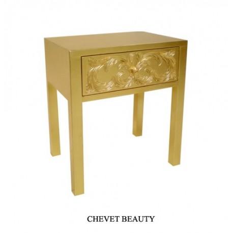 Chevet Baroque En Bois Dore Modele Beauty