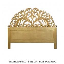 Tete De Lit En Bois Dore Modele Beauty 160 Cm