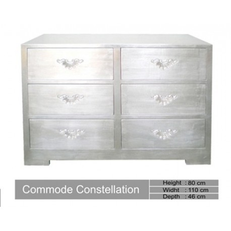 Commode En Bois Argente Constellation