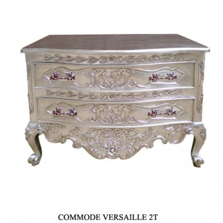 commode royale baroque en argent. Black Bedroom Furniture Sets. Home Design Ideas