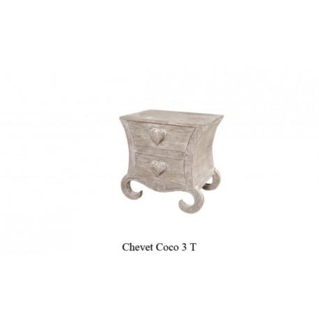 Chevet Coeur En Bois Ceruse