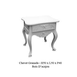 Location Chevet Granada En Bois Blanc