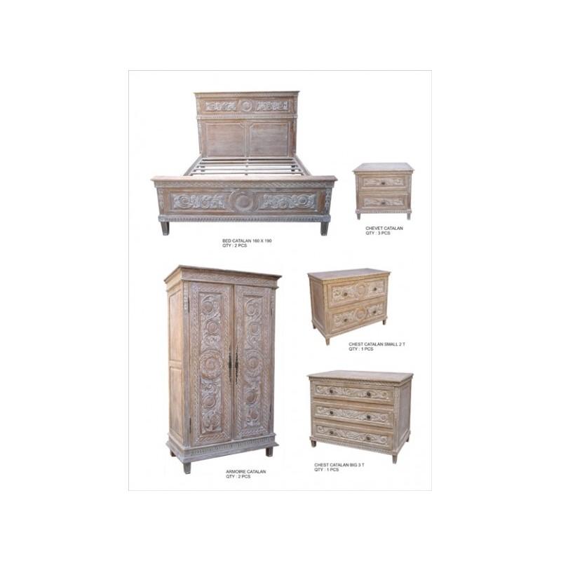 Ensemble mobilier pour chambre tout en bois for Ensemble mobilier chambre