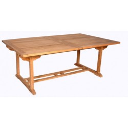 location Table De Jardin En Teck Rectangulaire Larg 100 Cm Galap
