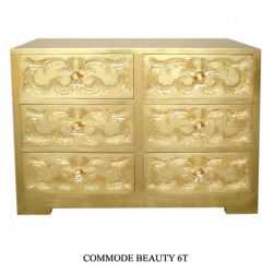 Commode En Bois Dore Beauty