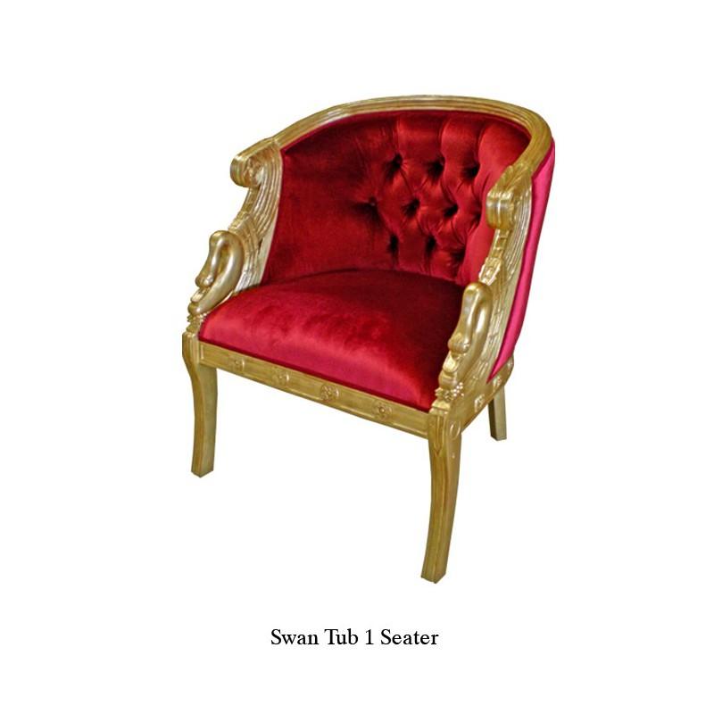 location fauteuil en velours rouge style baroque. Black Bedroom Furniture Sets. Home Design Ideas
