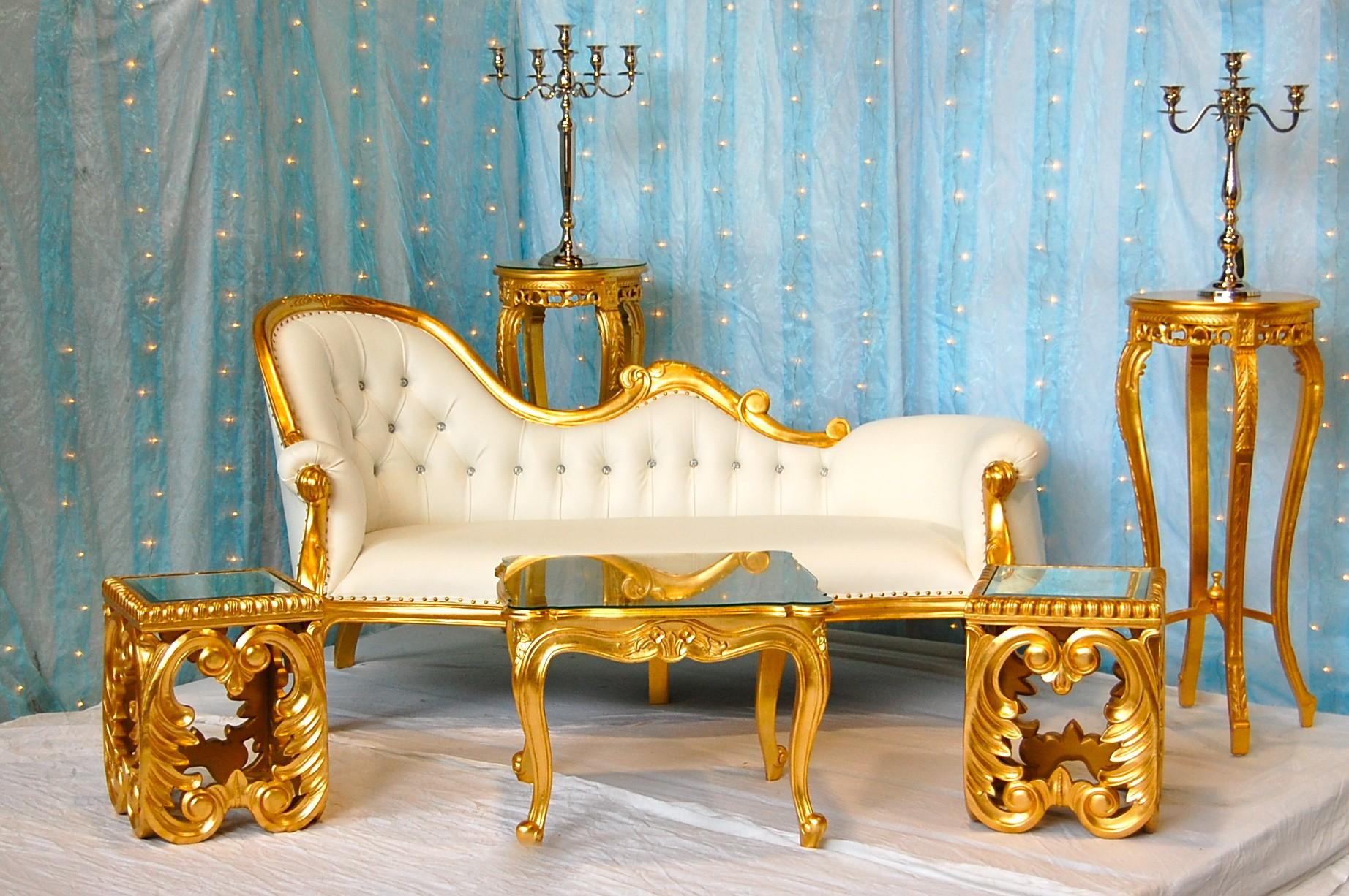 trone de mariage location dor et blanc - Location Trone Mariage Pas Cher