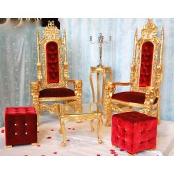 Location trône mariage (modèle Lion) doré et rouge