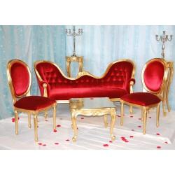 Trone de mariage location doré