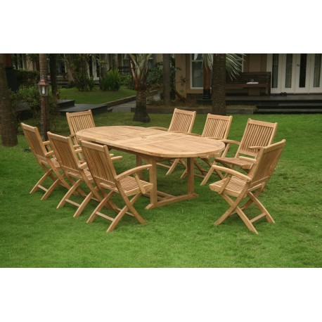 126 EVENTS/ Location de table de jardin en bois exotique