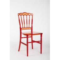 Location chaise Napoléon rouge transparente