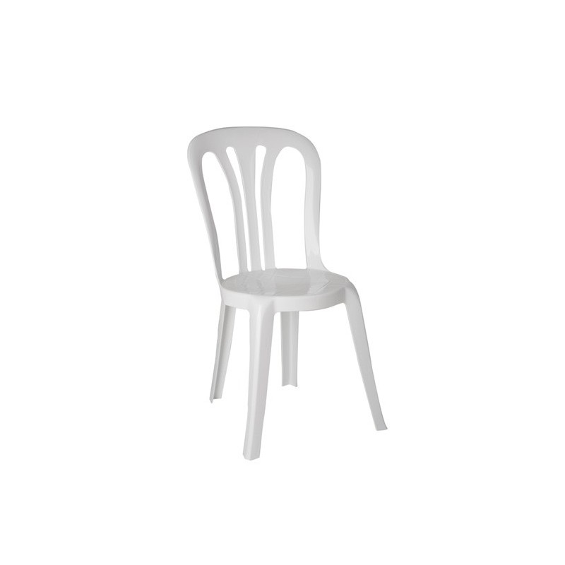 Chaise blanche mati re plastique for Chaise en plastique