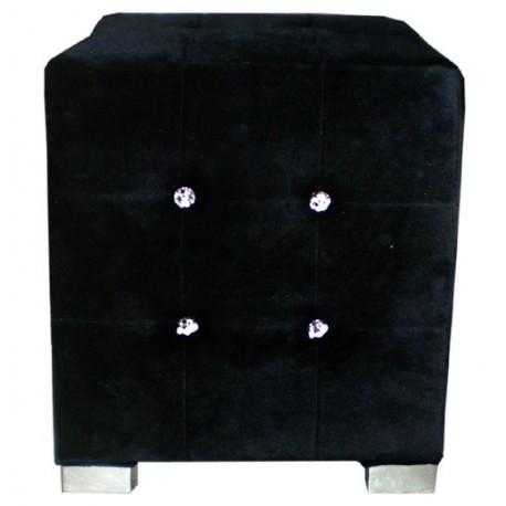 Location pouf en velours noir