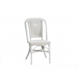 Location chaise en rotin blanc