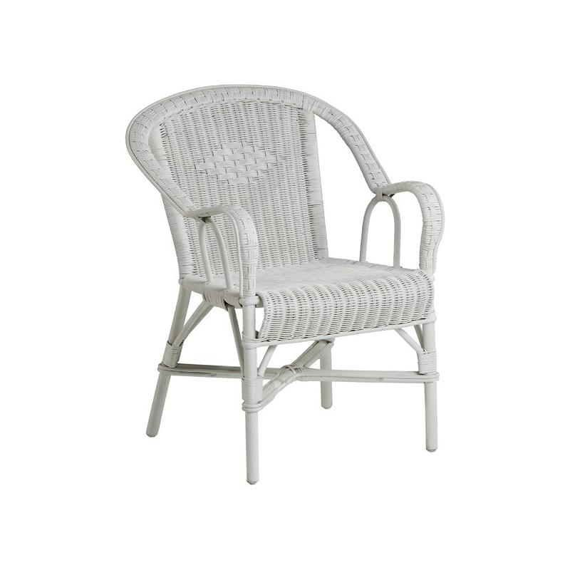 Location Fauteuil de jardin en rotin blanc - Location de meubles