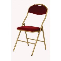 Location chaise pliante rouge