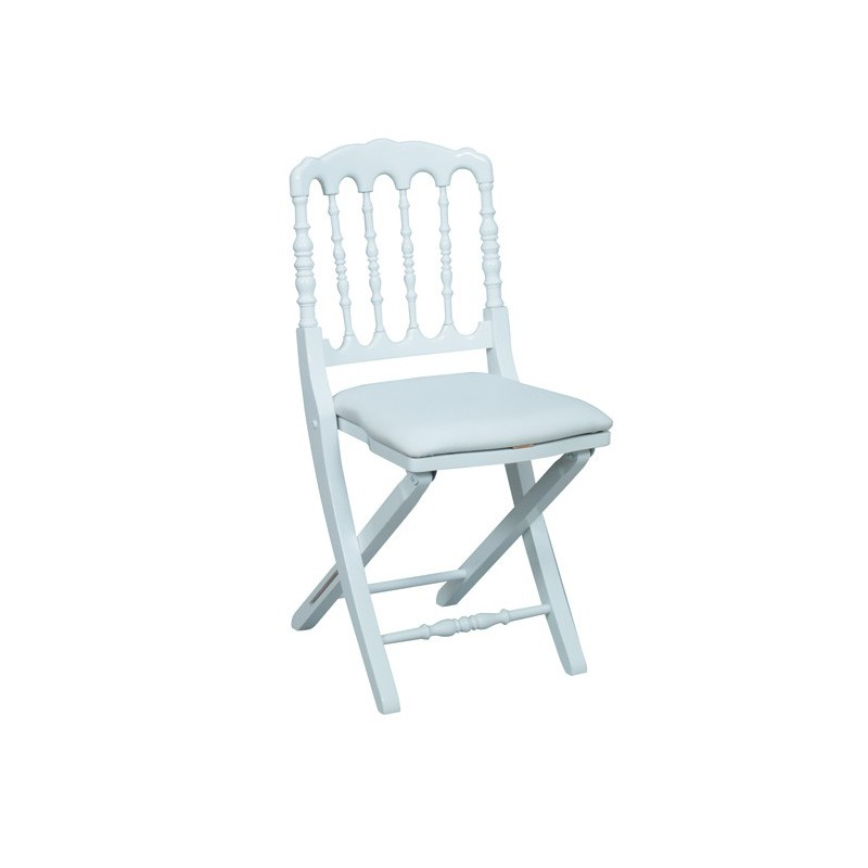 D co priv location chaise napoleon pliante blanche for Chaise napoleon blanche