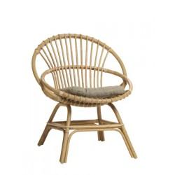 Location fauteuil de jardin en canne naturelle petit modèle