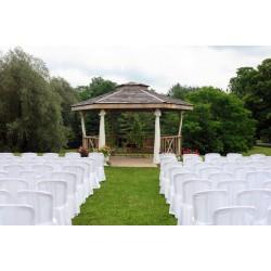 Location chaise de mariage housse blanche