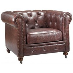 Location Fauteuil Chesterfield 1 place marron chocolat