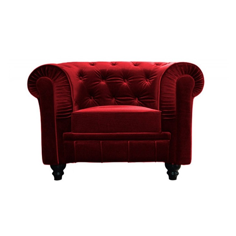 location fauteuil chesterfield rouge petit budget. Black Bedroom Furniture Sets. Home Design Ideas