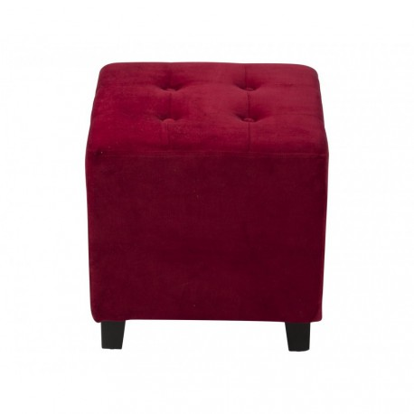 Location pouf en velours rouge