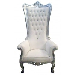 Location fauteuil royal cuir blanc