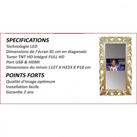 Location ecran tv pour vos stand salon professionnel paris for Televiseur miroir
