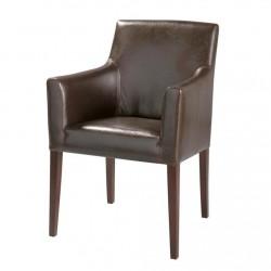 Location fauteuil bridge en cuir