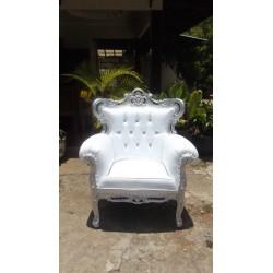 Location fauteuil mariage argent et blanc (Prince new)